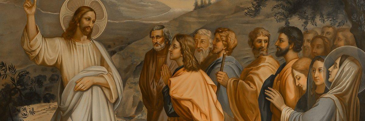 jesus teaching - St Vincent de Paul Sisters convent - Betania, Bethania- Israel